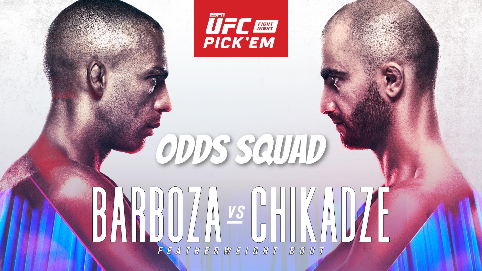 ufc vegas 35 barboza chikadze odds squad